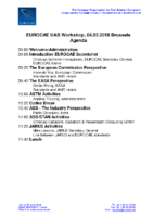 01 – EUROCAE – UAS – Workshop – 160304 – Agenda