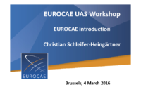 02 – EUROCAE – UAS – Workshop – 160304 – Intro
