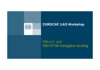 9. EUROCAE-UAS-Workshop_160304_DIN-ASD-STAN