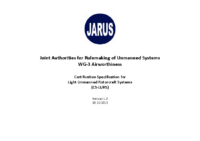 131030 – JARUS WG-3 Airworthiness – Certification Specification for Light Unmanned Rotorcraft Systems (CS-LURS)