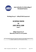 151115 – JARUS – WG6 – Safety Risk Assessment – Scoping Paper  to AMC RPAS.1309 – issue 2