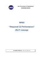 """160620 – JARUS – """"Required C2 Link Performance"""" (RLP) Concept – Upgraded"""