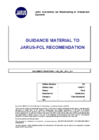 170213 – JARUS – Guidance Material To JARUS-FCL Recommendation