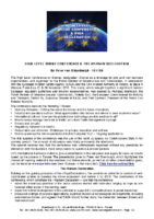 161126 – High Level Drone Conference & The Warsaw Declaration