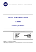 170626 – JARUS Guidelines on SORA – Annex 1- Glossary of Terms – v1.0
