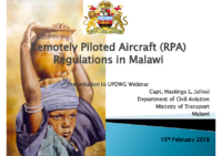 RPA Regulations in Malawai – Presentation – 180215