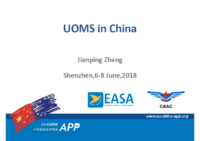 01.2 – Day 1 – 09.10-10.10 – CAAC-SRI – Jianping Zhang – UOMS in China (EN)