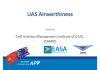 01.3 – Day 1 – 09.10-10.10 – Civil Aviation Management Institute of CCAC (CAMIC) – Lu Kun – UAS Airworthiness (EN)