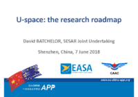 14.1 – Day 2 – 11.00-11.30 – SESAR-JU – David – Batchelor – U-space: The Research Roadmap (EN)