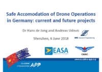 07.1 – Day 1 – 14.10-14.40 – DFS – Hans de Jong & Andreas Udovic – Safe Accomodation of Drone Operations in Germany: Current & Future Projects (EN)