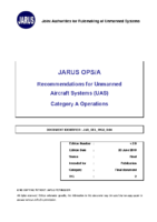 180720 – JARUS OPS/A – Recommendations for UAS Category A Operations