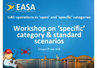 EASA – UAS Operations In Open & Specific Categories – 180709