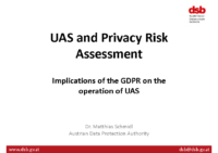 Data Protection Agency – Austria – GDPR & UAS Operations – 180709