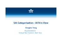1.2.2 Mr. Yang Honghai, Regional Director North Asia, Safety and Flight Operations, IATA
