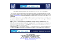 200518 – AW-Drones – Survey of European Drone Operations to Help Frame Future Standards